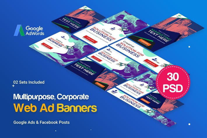 Thumbnail for Multipurpose, Business Banners Ad