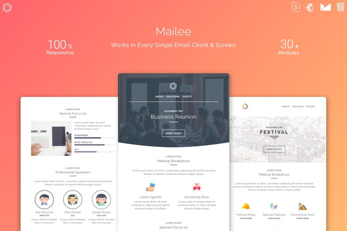 Thumbnail for Mailee Responsive Multipurpose Email Template