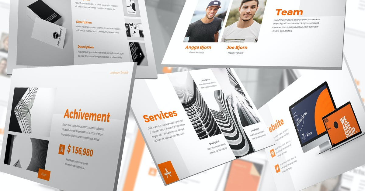 Download Prover - Architecture Keynote Template by SlideFactory