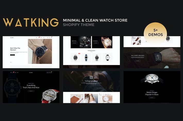 Thumbnail for Watking — Minimal & Limpio Watch Shopify Tema