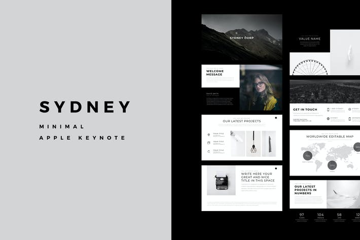 Thumbnail for Sydney Minimal Keynote Template