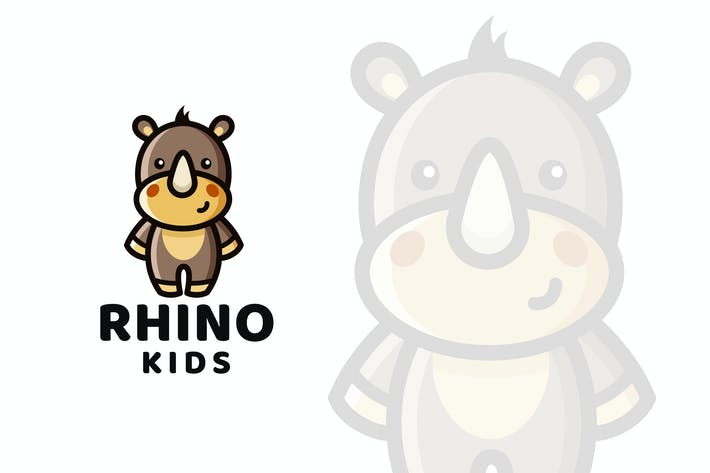 Thumbnail for Rhino Kids Logo Template
