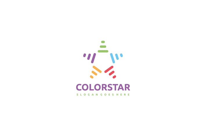Cover Image For Colorful Star Logo