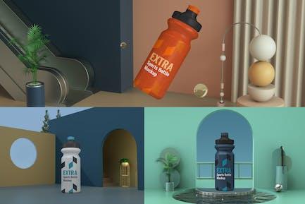 Realistic Sport Bottle Scene