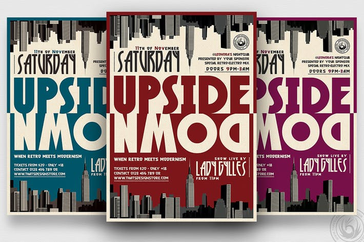 Thumbnail for Upside Down Flyer Template