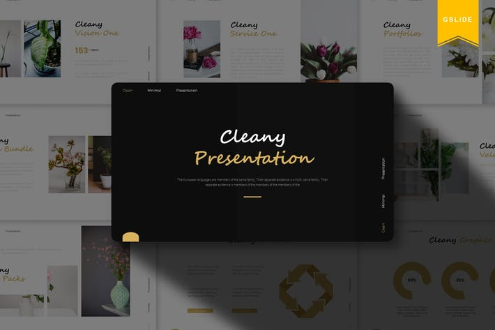 Thumbnail for Cleany | Google Slides Template