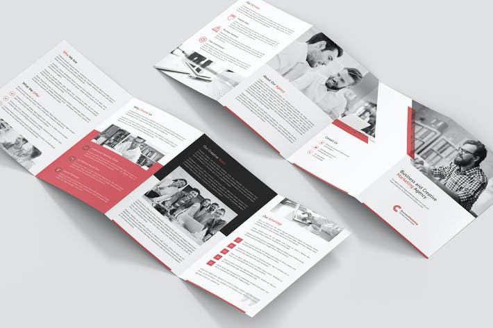 Thumbnail for Brochure – Business Marketing 4-Fold A5