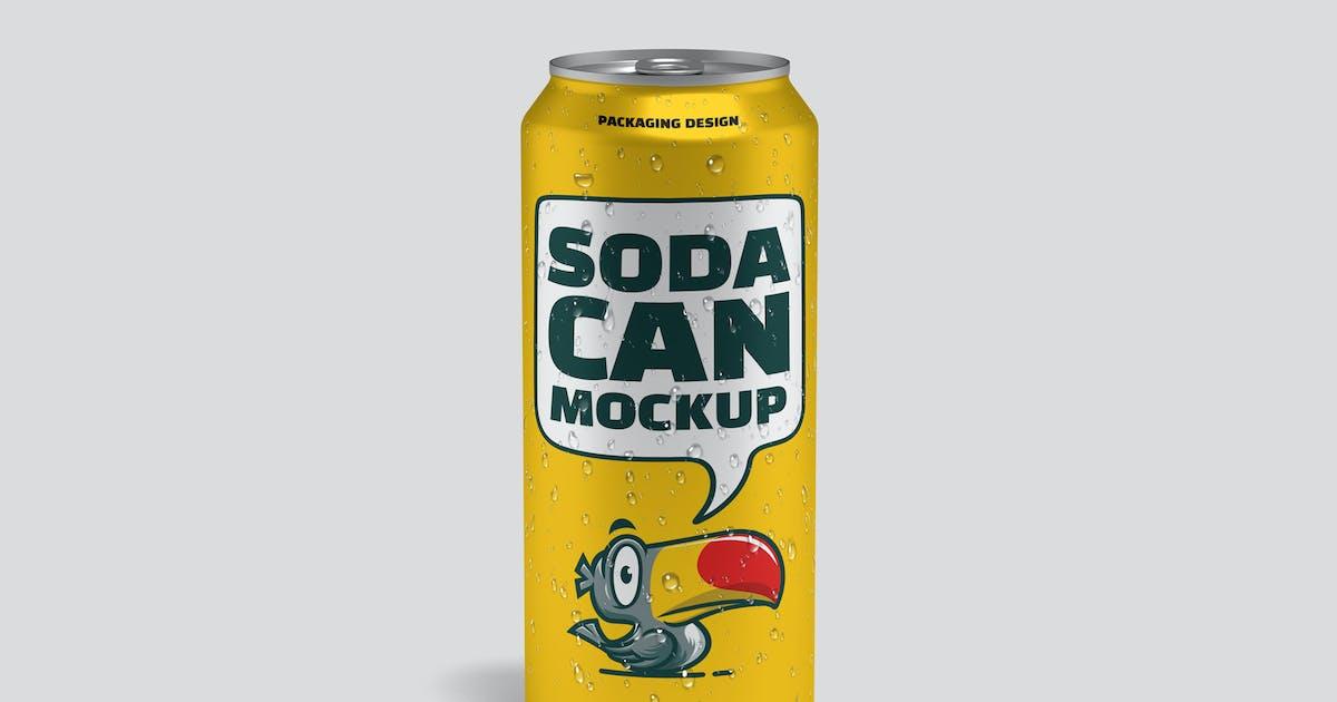 Download Soda Can Mockup by graptailstudio