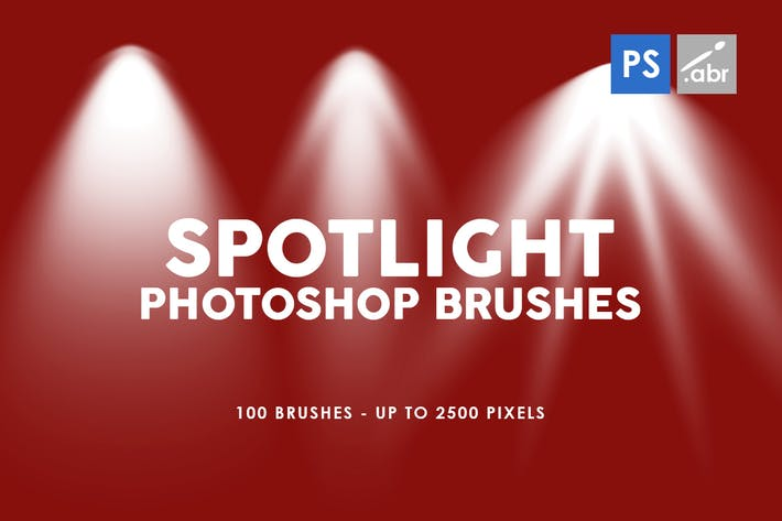 Thumbnail for 100 Spotlight Photoshop Brushes