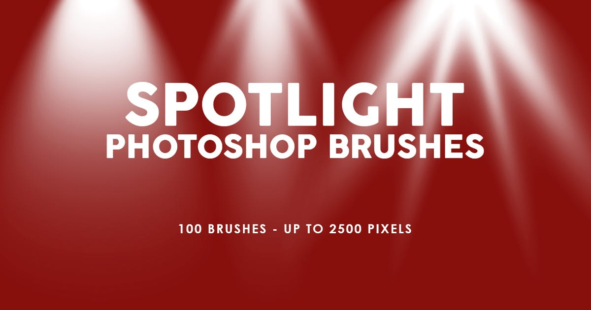 Download 100 Spotlight Photoshop Brushes by M-e-f