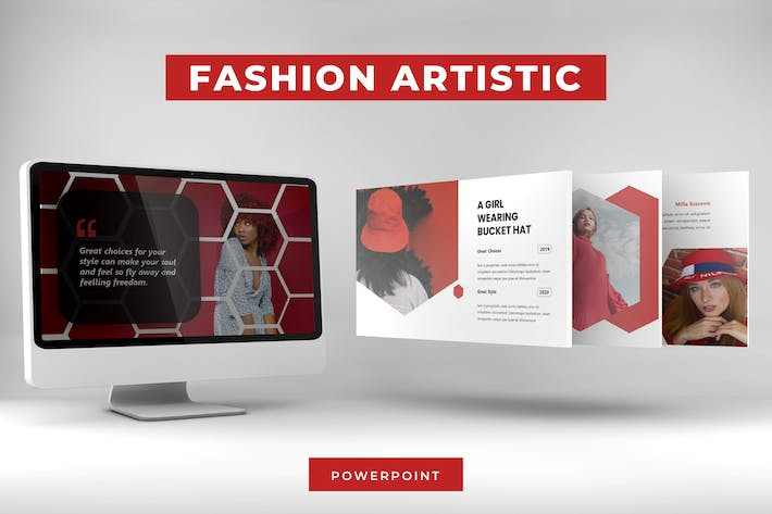 Thumbnail for Fashion Artistic - Powerpoint Template