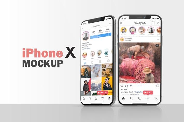 Thumbnail for iPhone X Mockup V.8