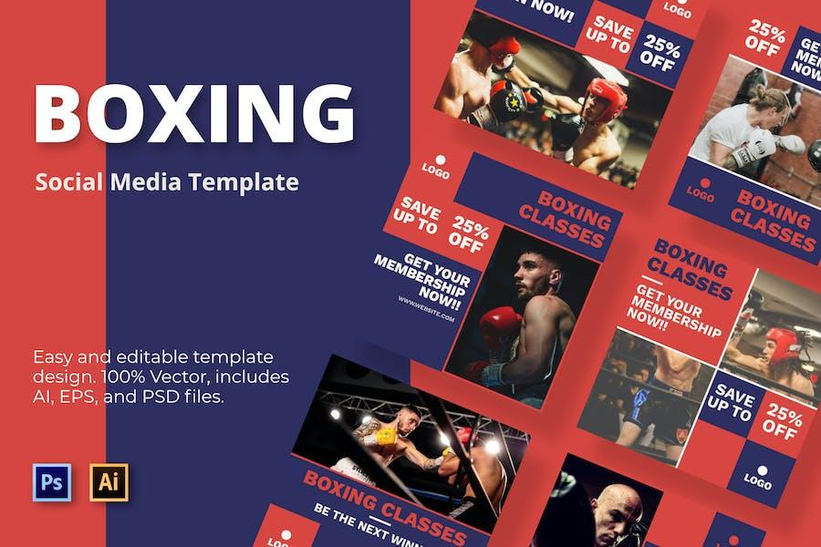 Boxing Class Social Media Template