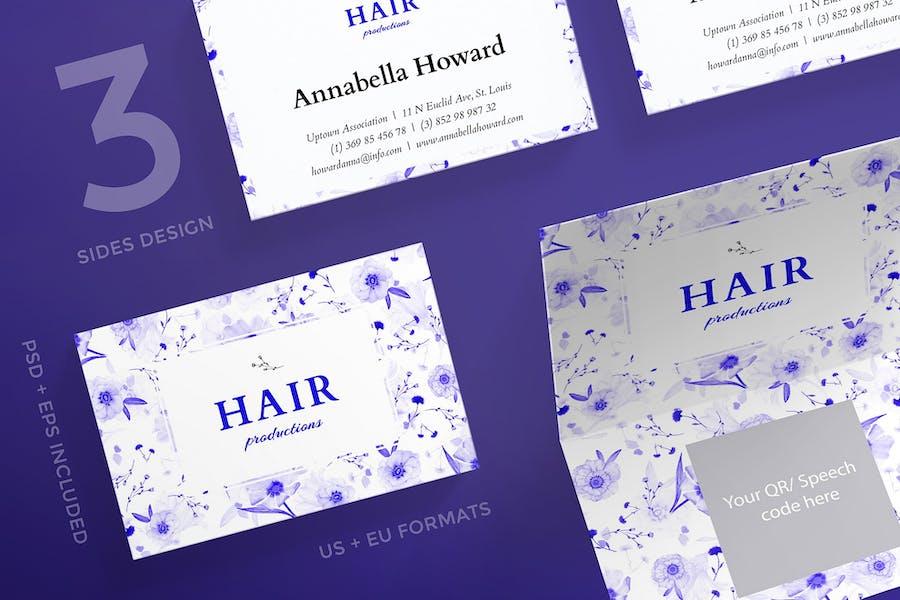 Hair Salon Day Business Card Template