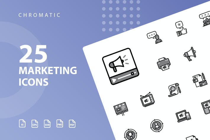 Thumbnail for Marketing Chromatic Icons