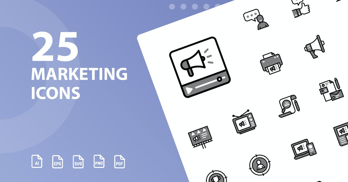 Download Marketing Chromatic Icons by kerismaker
