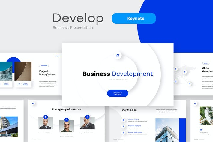 Thumbnail for DEVELOP - Business Pitchdeck Keynote Template