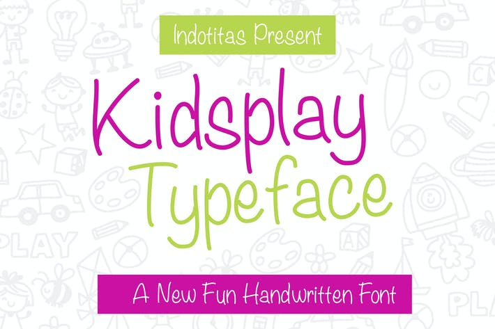 Thumbnail for Kidsplay Typeface