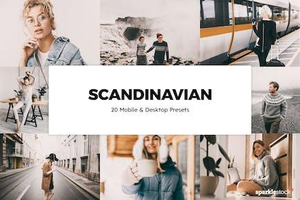 20 Scandinavian Lightroom Presets & LUTs
