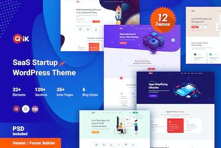 QIK - SaaS Startup WordPress Theme