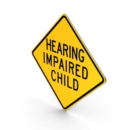 Señal de carretera de Pensilvania para niños con discapacidad auditiva