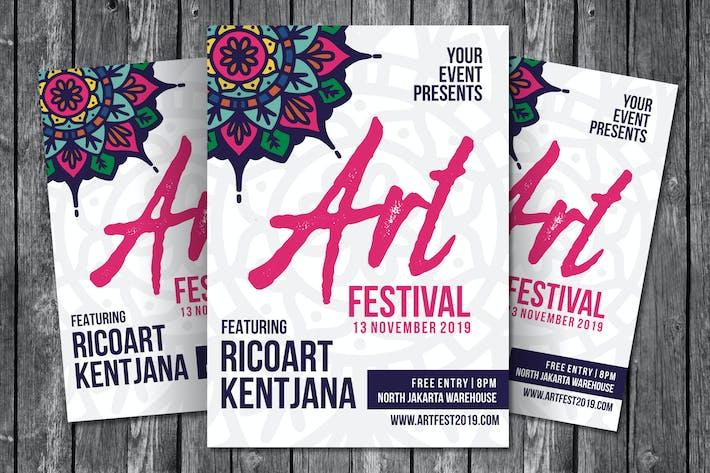 Thumbnail for Art Festival Flyer Template
