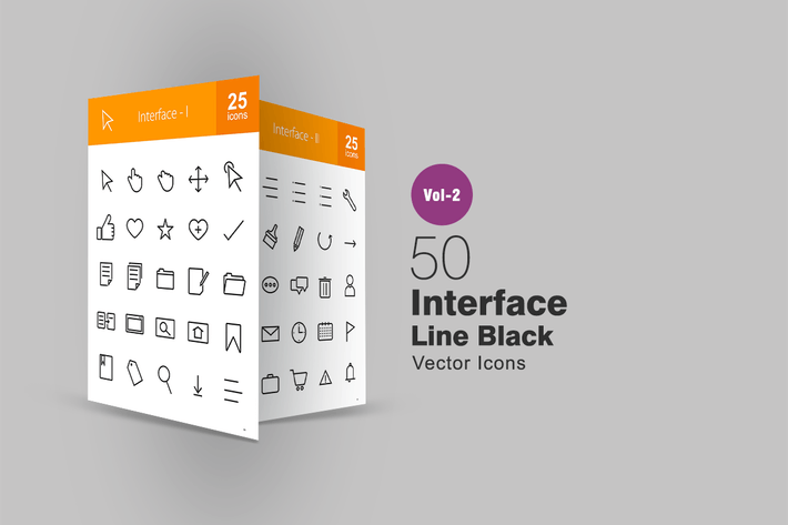 Thumbnail for 50 Interface Line Icons