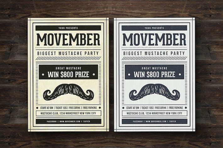 Thumbnail for Vintage Movember Flyer