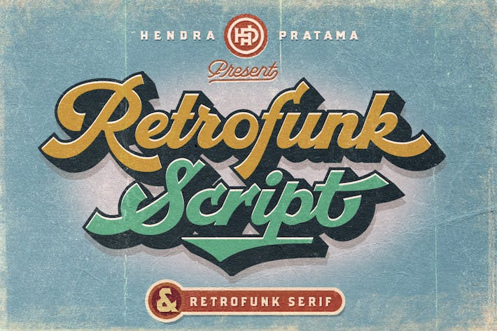 Cover Image For Retrofunk - Script & Serif