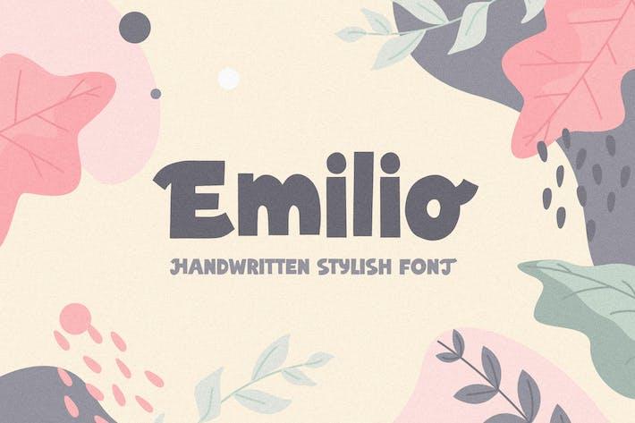 Thumbnail for Emilio - Fuente elegante escrita a mano
