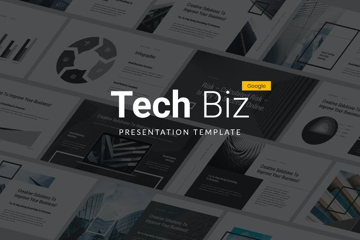 Thumbnail for Tech Biz - Google Slides Template
