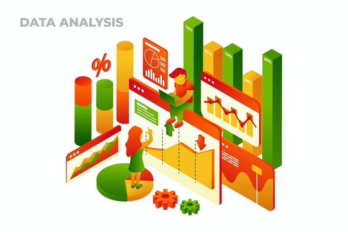 Thumbnail for Data Analysis - Vector Isometric Illustration