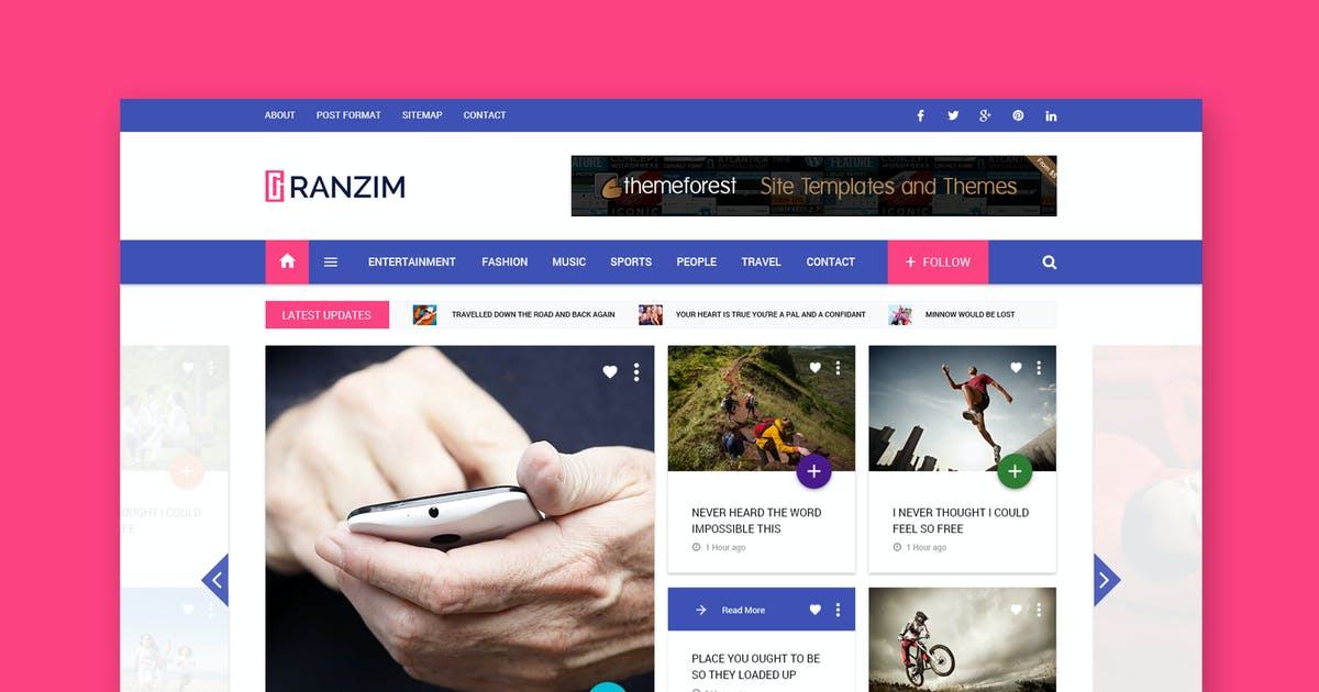 Download Ranzim - Magazine/News Responsive HTML Template by WPmines