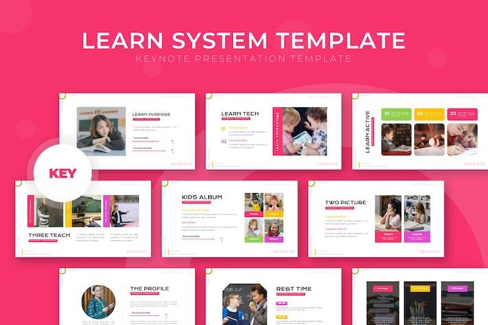 Learn System - Шаблон Keynote