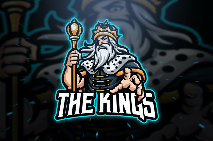 Cover Image For The King Sport and Esport Logo Template