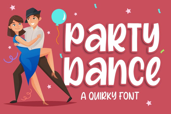 Thumbnail for Party Dance - a Quirky Font