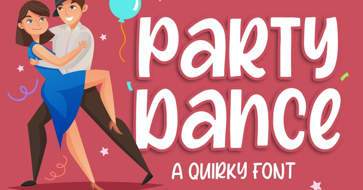 Download Party Dance - a Quirky Font by Blankids