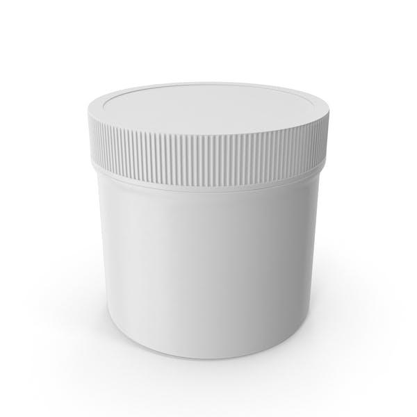 Пластиковая банка широкий рот прямо сторонняя 2 унции без крышки Белый