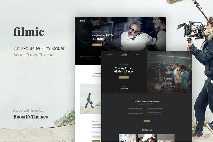 Thumbnail for Filmic - Movie Studio & Film Maker WordPress Theme