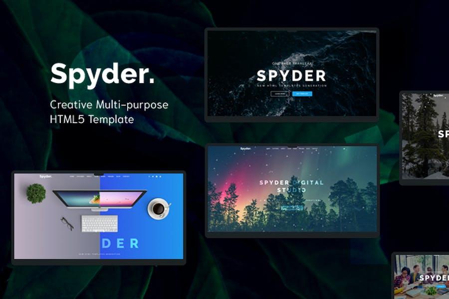 Spyder - Mehrzweck-HTML-Vorlage Vorlage eine Seite