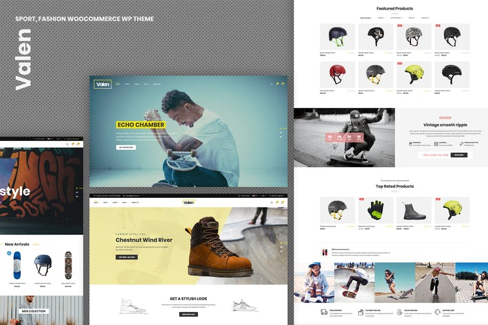 Thumbnail for Valen - Sport, Mode WooCommerce Thème WordPress
