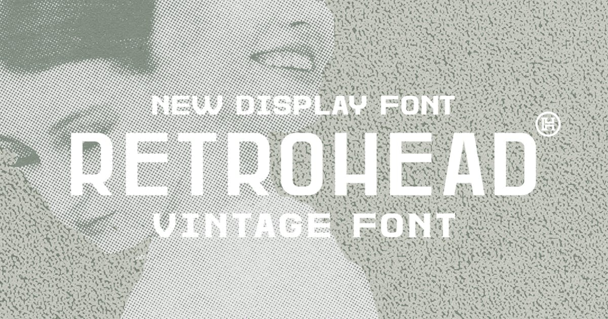 Download Retrohead Typeface|Vintage Font by Mihis_Design