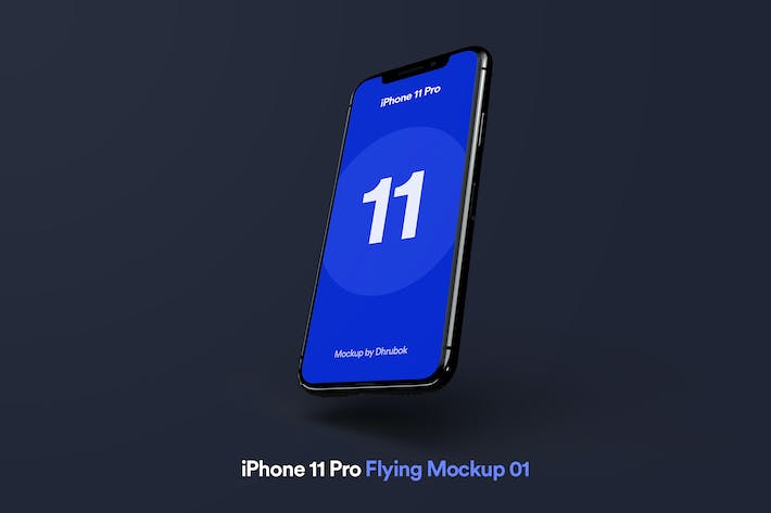 Thumbnail for iPhone 11 Pro - Flying Mockup 01