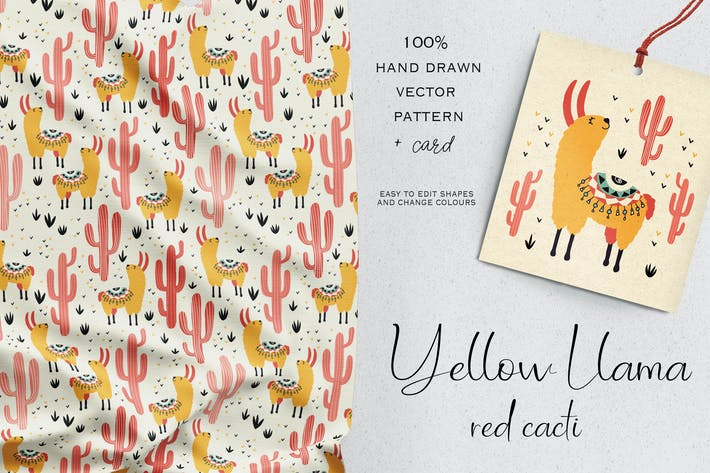 Thumbnail for Yellow Llama Red Cacti