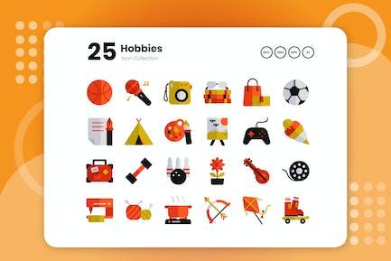 25 Hobbies Flat Icon