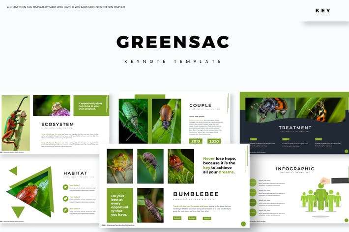 Cover Image For Greensac - Keynote Template