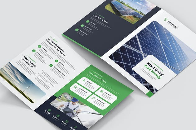 Brochure – Solar Energy Bi-Fold - product preview 3