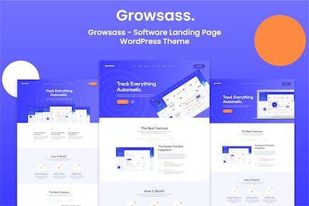 Growsass - Software Landing Page WordPress Theme