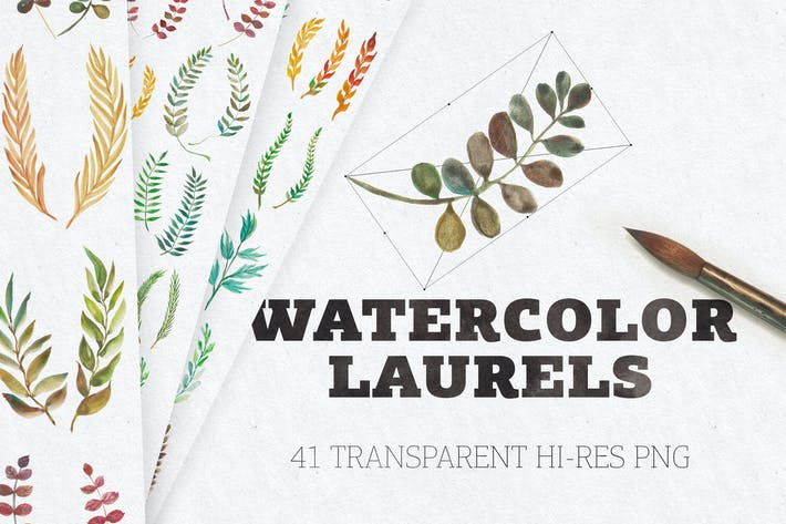 Thumbnail for Watercolor Laurels