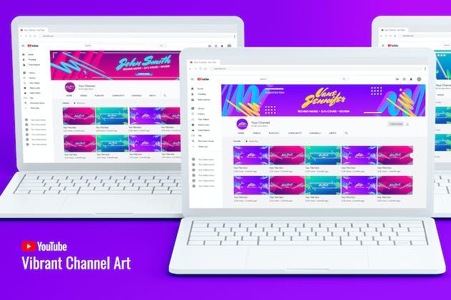 Vibrant Youtube Channel Art